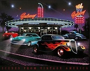 Galaxy Diner Canvas LED Pictures - Click on image to enlarge