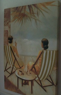 Beach Ladies Canvas Picture - Click on image to enlarge