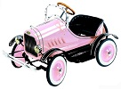 Deluxe Model T Pedal Car Pink