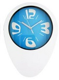 Oval White Funky Wall Clocks - Click on image to enlarge