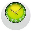Round White Funky Wall Clocks - Click on image to enlarge