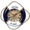 Lifebuoy Wall Clocks - Click on image to enlarge