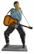 Elvis Singing with Guitar Lifesize Resin Figure