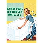 A Clean House Greeting Card