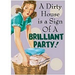 a Dirty House Greeting Card