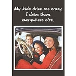 Kids Drive me Crazy Greeting Card