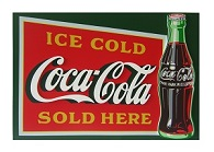 Coca Cola Ice Cold Sign - Click on image for details