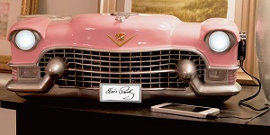 Elvis Resin Pink Cadillac 3D Bluetooth Speaker - Click on image to enlarge