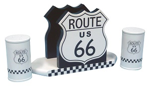 Route 66 Salt and Pepper Holder - Click on image to enlarge
