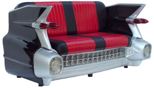 Retro Cadillac Sofa Black - Click on image to enlarge