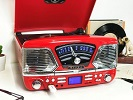 Roxy 4 Record Player Red