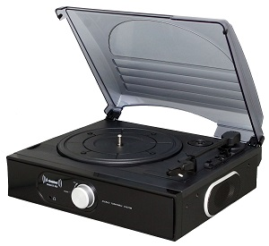 Bluetooth ST938 Stand Alone Record Player Black