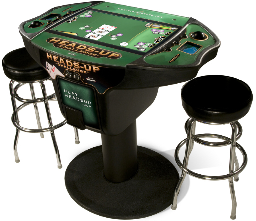 Heads Up Poker Table Set - Click on image to enlarge  sc 1 st  Retro Furniture | Wotever.co.uk & Heads Up Challenge Electronic Poker Table - Wotever