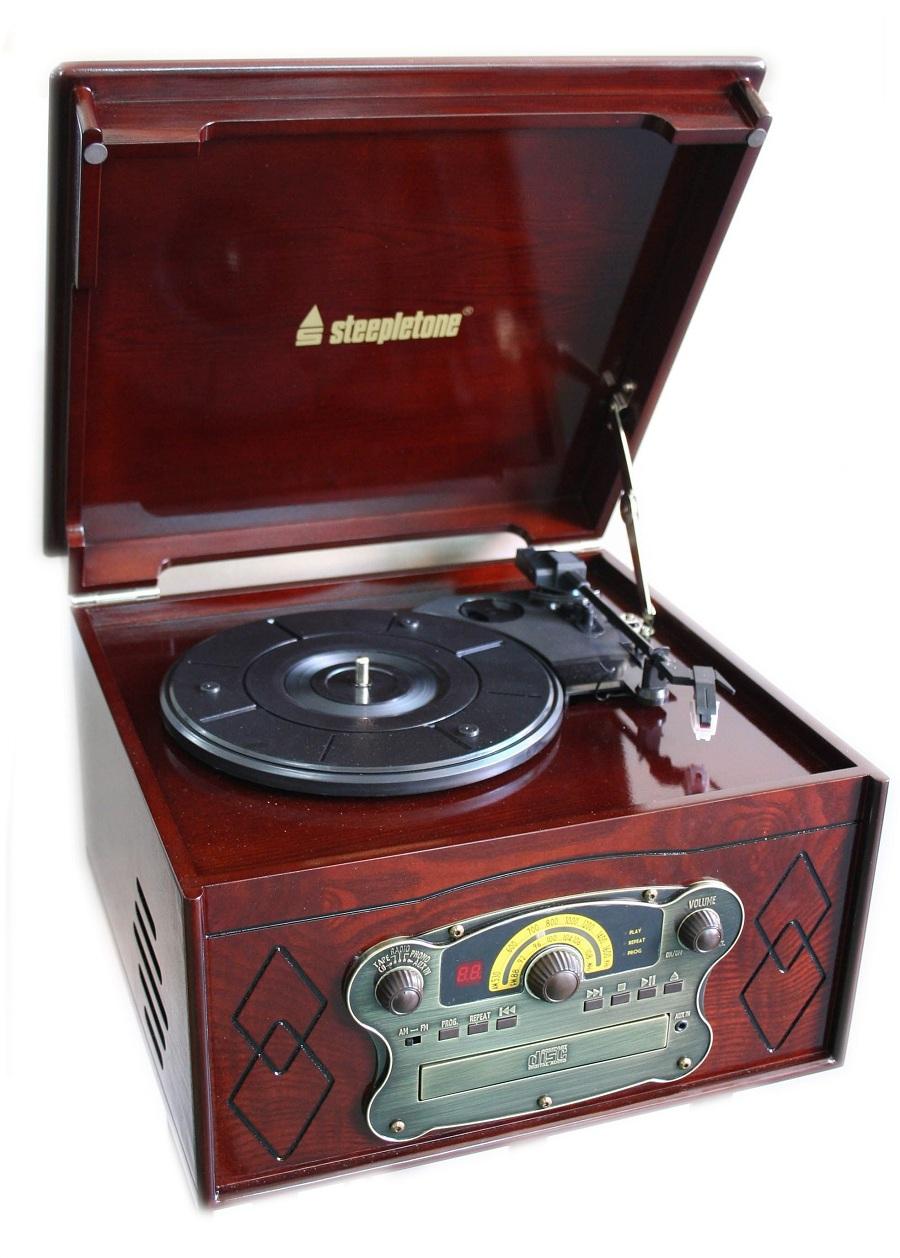 Record Players Steepletone Chichester Iii Semi Automatic