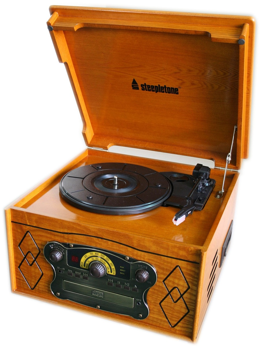 Record Players Steepletone Chichester Iii Semi Automatic