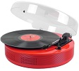 Bluetooth Discgo Round Record Player Red