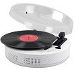 Bluetooth Discgo Round Record Player White