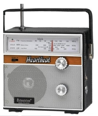 Heartbeat Radio Steepletone Heartbeat 1960s Retro Style