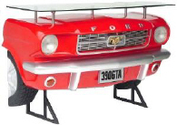 Mustang Car Bar Red - Click on image for more details
