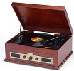 USB Norfolk Retro Wooden Record Player  - Click here to Enlarge Picture