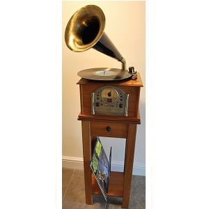 Phono1 Gramophone Style Stereo Music System - Click on image to enlarge