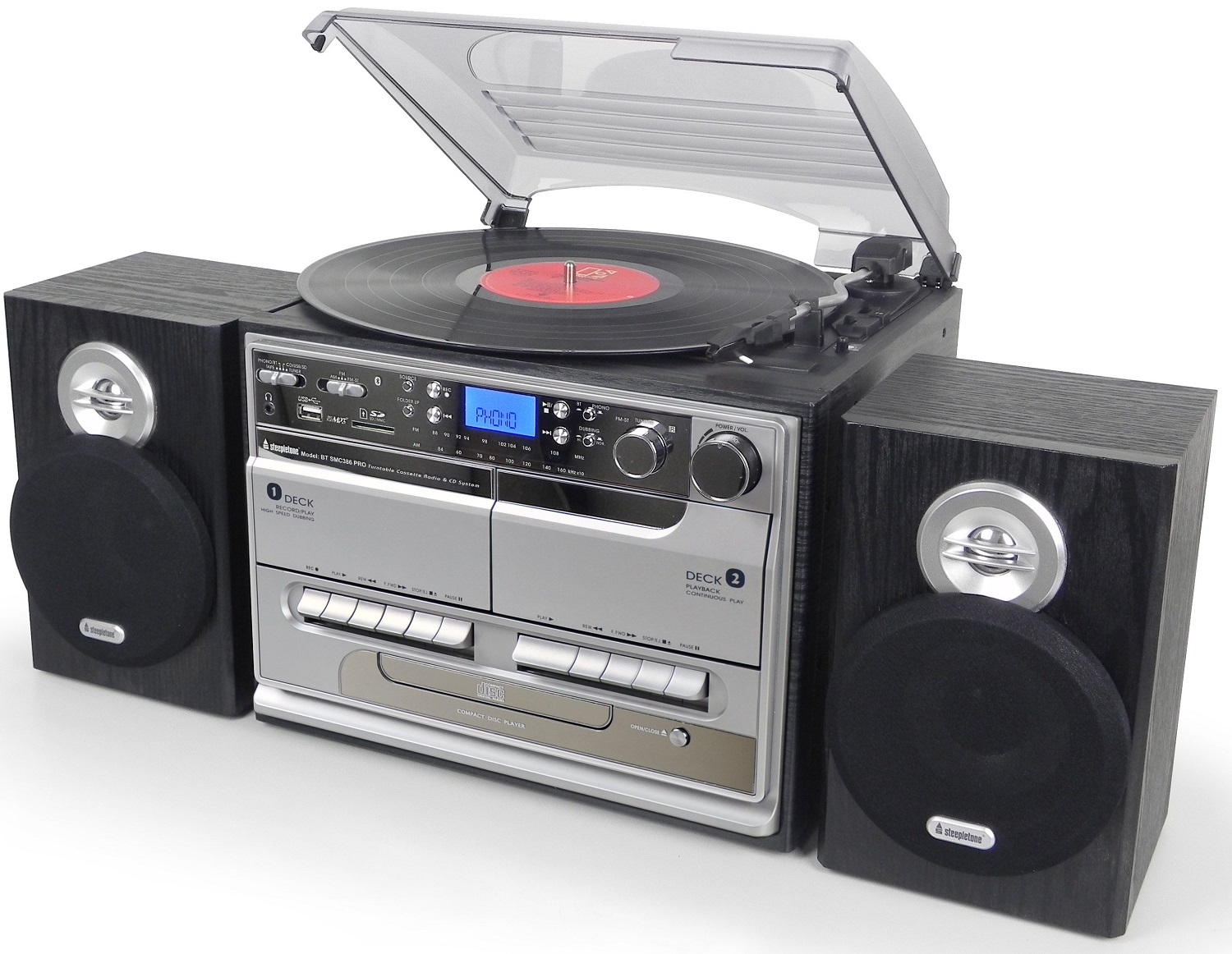 Record Player Steepletone Bluetooth Smc386 Pro Mp3