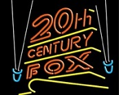 20th Century Fox Neon Sign