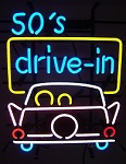 50s Drive In Neon Sign
