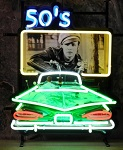 50s Drive In Screen Neon Sign