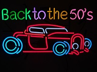 Back to the Fifties Car Neon Sign