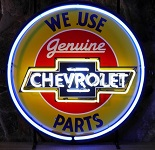 Chevrolet Parts Neon Sign