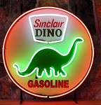 Dino Gasoline Neon Sign