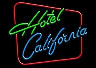 Hotel California Neon Sign