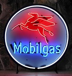 Mobilgas Neon Sign