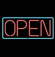 Open Large Neon Sign