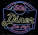 Diner Late Night Neon Sign
