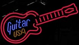 Guitar USA Neon Sign