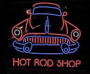Hot Rod Shop Neon Sign