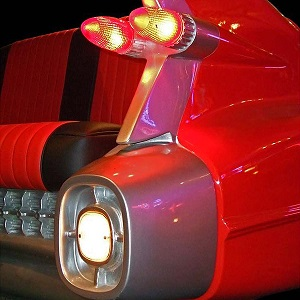 Retro Cadillac Sofa Lit Up - Click on image to enlarge