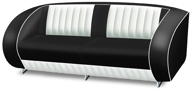 American 50s Style Retro Sofa Retro Furniture Retro