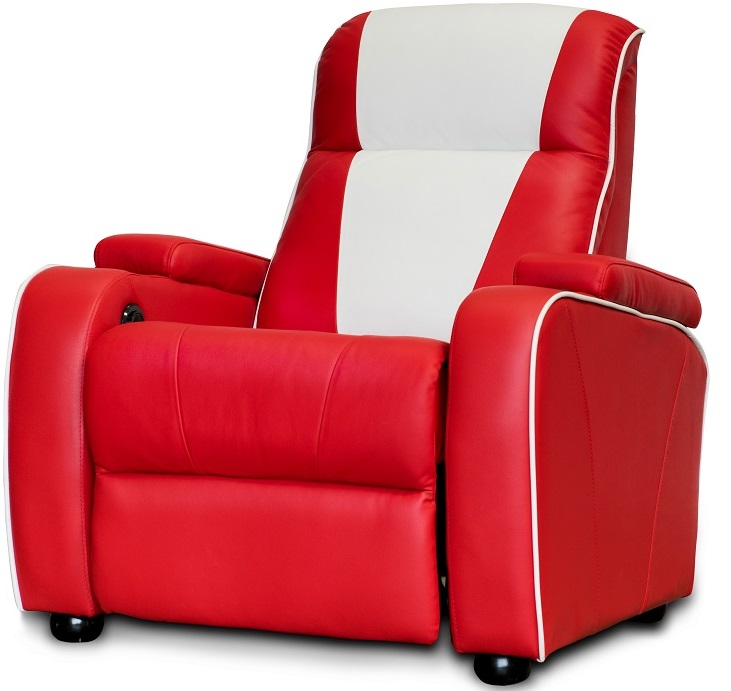 ... Retro Home Cinema Chair Red   Click On Image To Enlarge ...