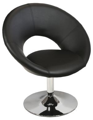 Swivel Pod Chair Black