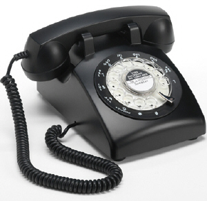 STP1960 Retro Rotary Phone Black - Click on image to enlarge