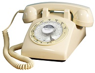 STP1960 Retro Rotary Phone Cream - Click on image to enlarge