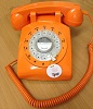 STP1960 Retro Rotary Phone Orange - Click on image to enlarge