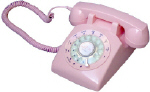 STP1960 Retro Rotary Phone Pink - Click on image to enlarge