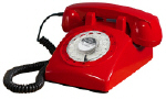 STP1960 Retro Rotary Phone Red - Click on image to enlarge