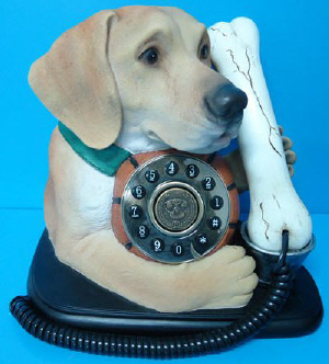 Golden Labrador Novelty Phone - Click on image to enlarge