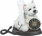 Westie Push Button Phone - Click on image for more details
