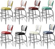 50s Bar Stools - Click on image to view Colours & Details